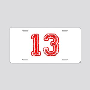 13-Col red Aluminum License Plate