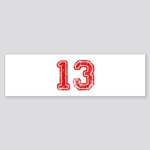 13-Col red Bumper Sticker
