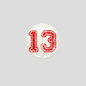 13-Col red Mini Button