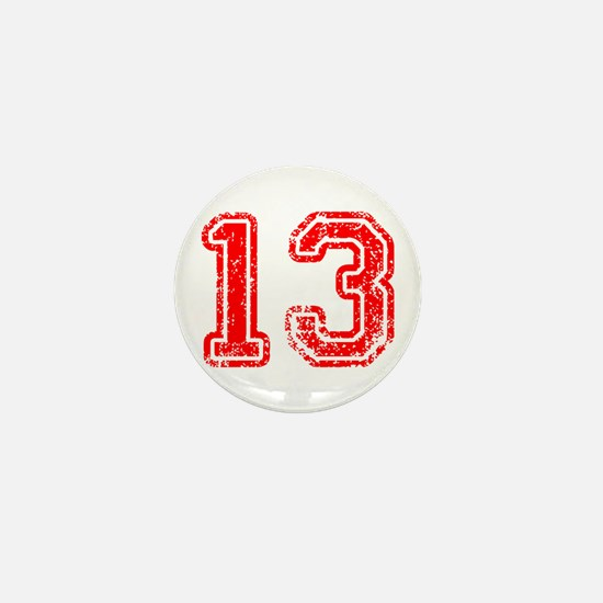 13-Col red Mini Button