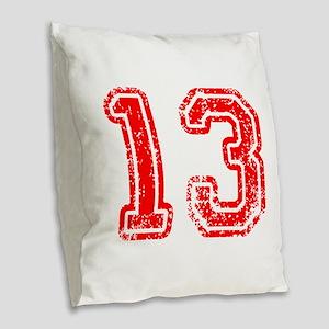 13-Col red Burlap Throw Pillow