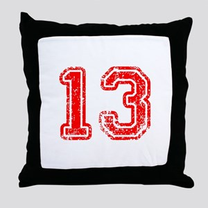 13-Col red Throw Pillow
