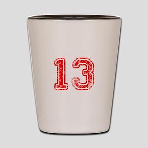 13-Col red Shot Glass