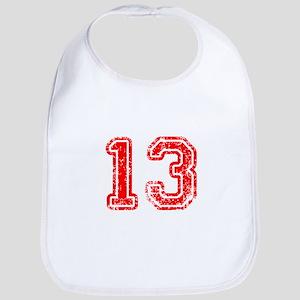 13-Col red Bib