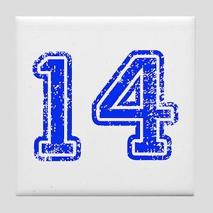 14-Col blue Tile Coaster