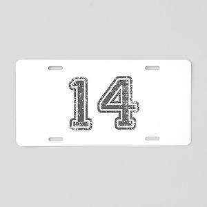 14-Col gray Aluminum License Plate