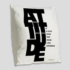 Winston churchill Inspirationa Burlap Throw Pillow