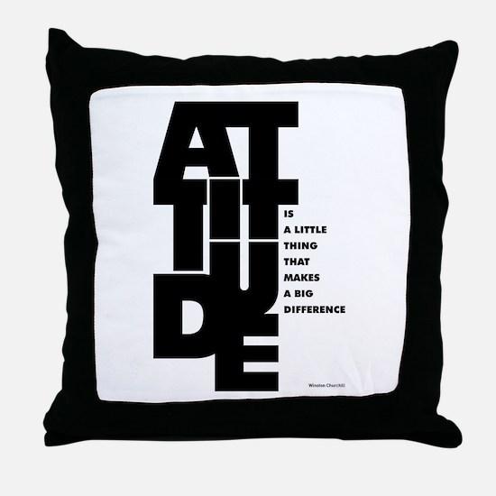Winston churchill Inspirational Quote Throw Pillow