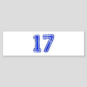 17-Col blue Bumper Sticker