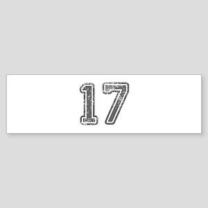 17-Col gray Bumper Sticker