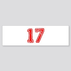 17-Col red Bumper Sticker