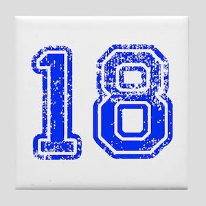 18-Col blue Tile Coaster