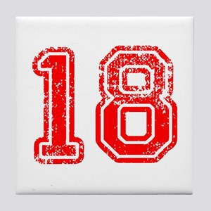 18-Col red Tile Coaster