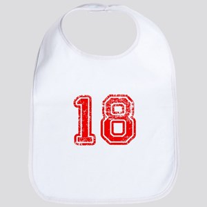18-Col red Bib