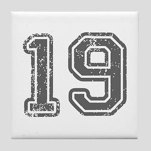 19-Col gray Tile Coaster