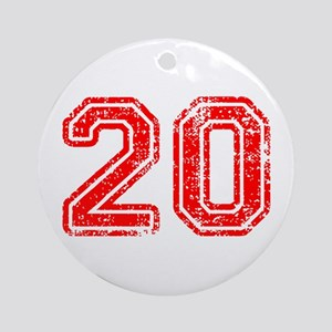 20-Col red Ornament (Round)