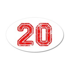20-Col red Wall Decal