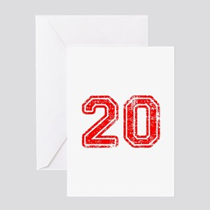 20-Col red Greeting Cards