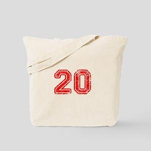 20-Col red Tote Bag