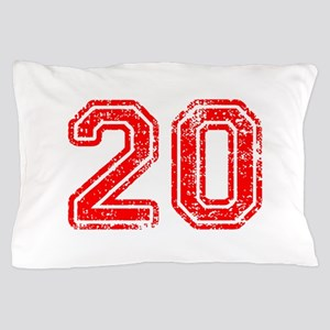 20-Col red Pillow Case
