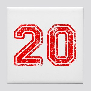20-Col red Tile Coaster