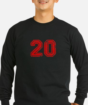 20-Col red Long Sleeve T-Shirt