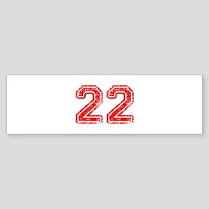 22-Col red Bumper Sticker