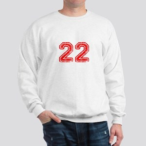 22-Col red Sweatshirt