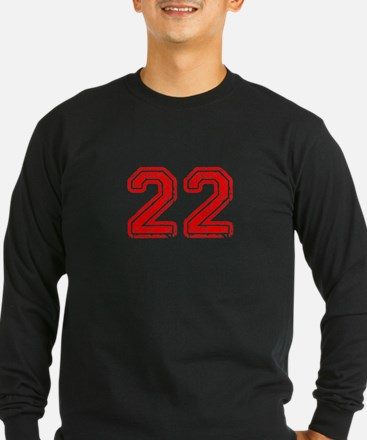 22-Col red Long Sleeve T-Shirt