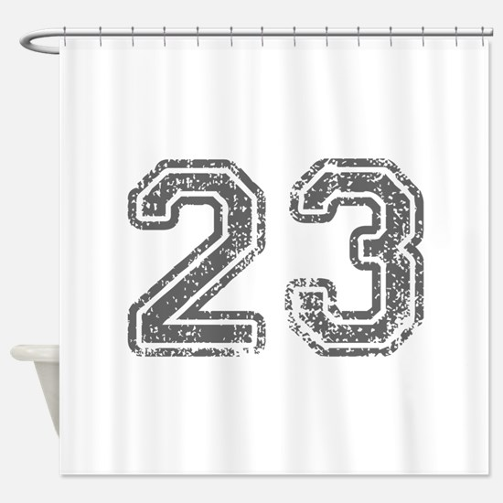 23-Col gray Shower Curtain