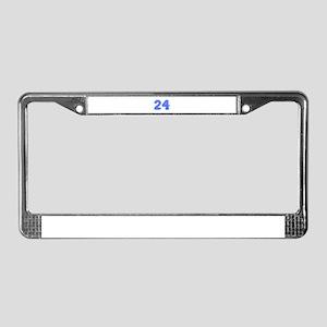 24-Col blue License Plate Frame