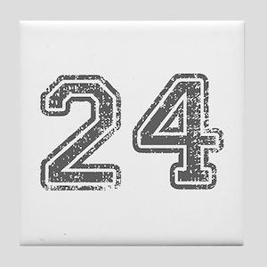 24-Col gray Tile Coaster