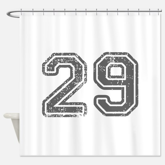 29-Col gray Shower Curtain