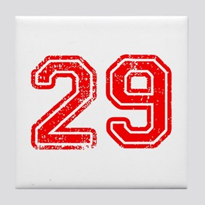 29-Col red Tile Coaster