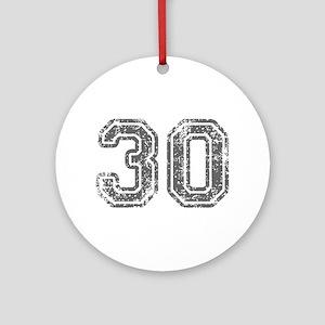 30-Col gray Ornament (Round)