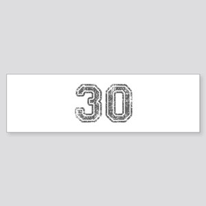 30-Col gray Bumper Sticker