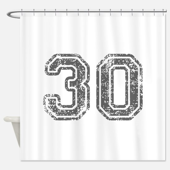 30-Col gray Shower Curtain