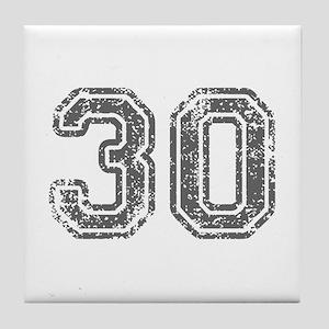 30-Col gray Tile Coaster