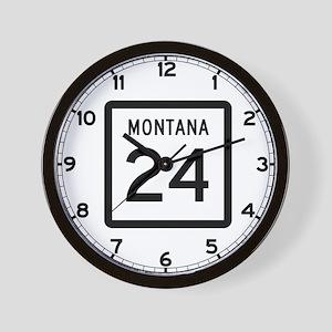 Highway 24, Montana Wall Clock