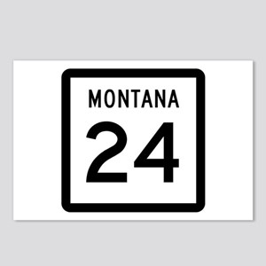 Highway 24, Montana Postcards (Package of 8)