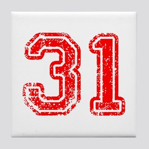 31-Col red Tile Coaster