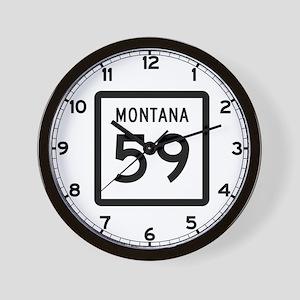 Highway 59, Montana Wall Clock