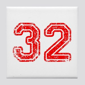 32-Col red Tile Coaster