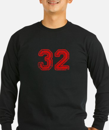 32-Col red Long Sleeve T-Shirt