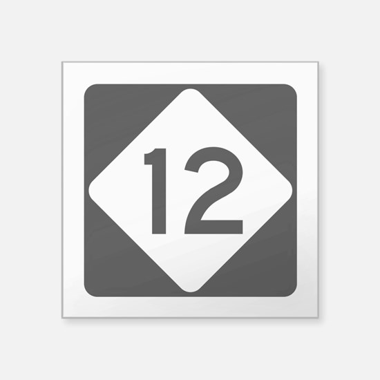 "Highway 12, North Carolina Square Sticker 3"" x 3"""