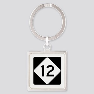 Highway 12, North Carolina Square Keychain