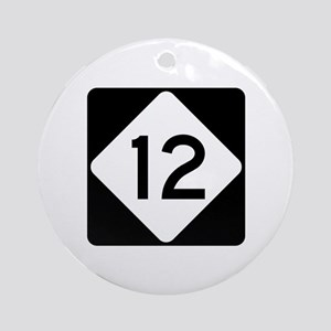 Highway 12, North Carolina Ornament (Round)