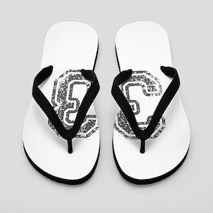 33-Col gray Flip Flops