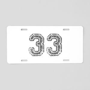 33-Col gray Aluminum License Plate