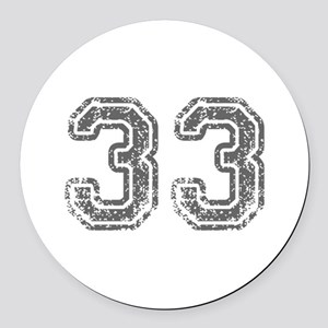 33-Col gray Round Car Magnet